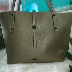 Army Green Coach Tote Bag